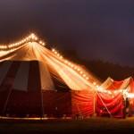 vintage big top circus tent